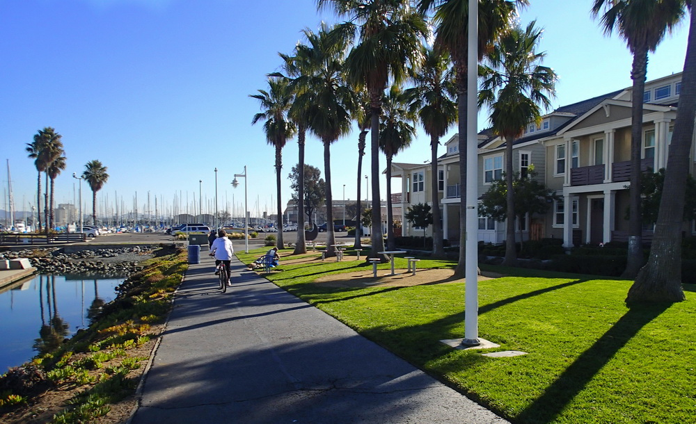 Waterfront green at Alameda Grand Marina Village