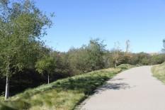 Swale & bike trail at Eleanor Murray Fallon School