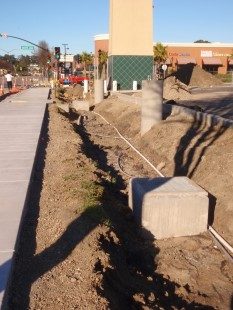 Construction of retention, 2011, San Pablo Ave.