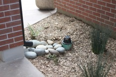 Runoff flows to landscaping at Fremont Christian School